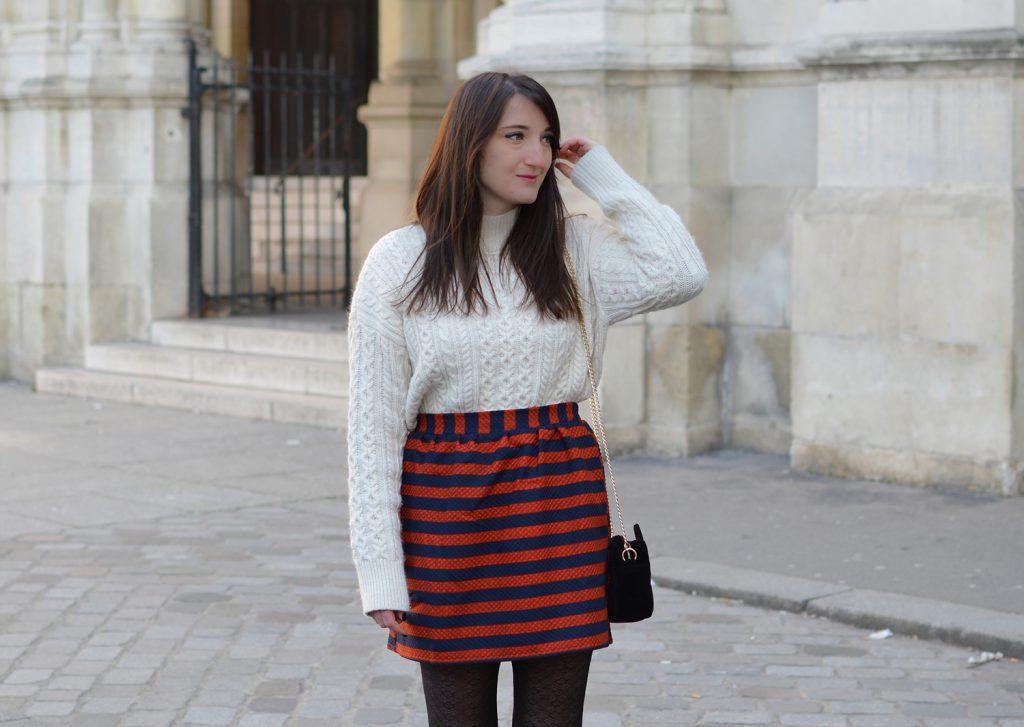 La jupe à rayures
