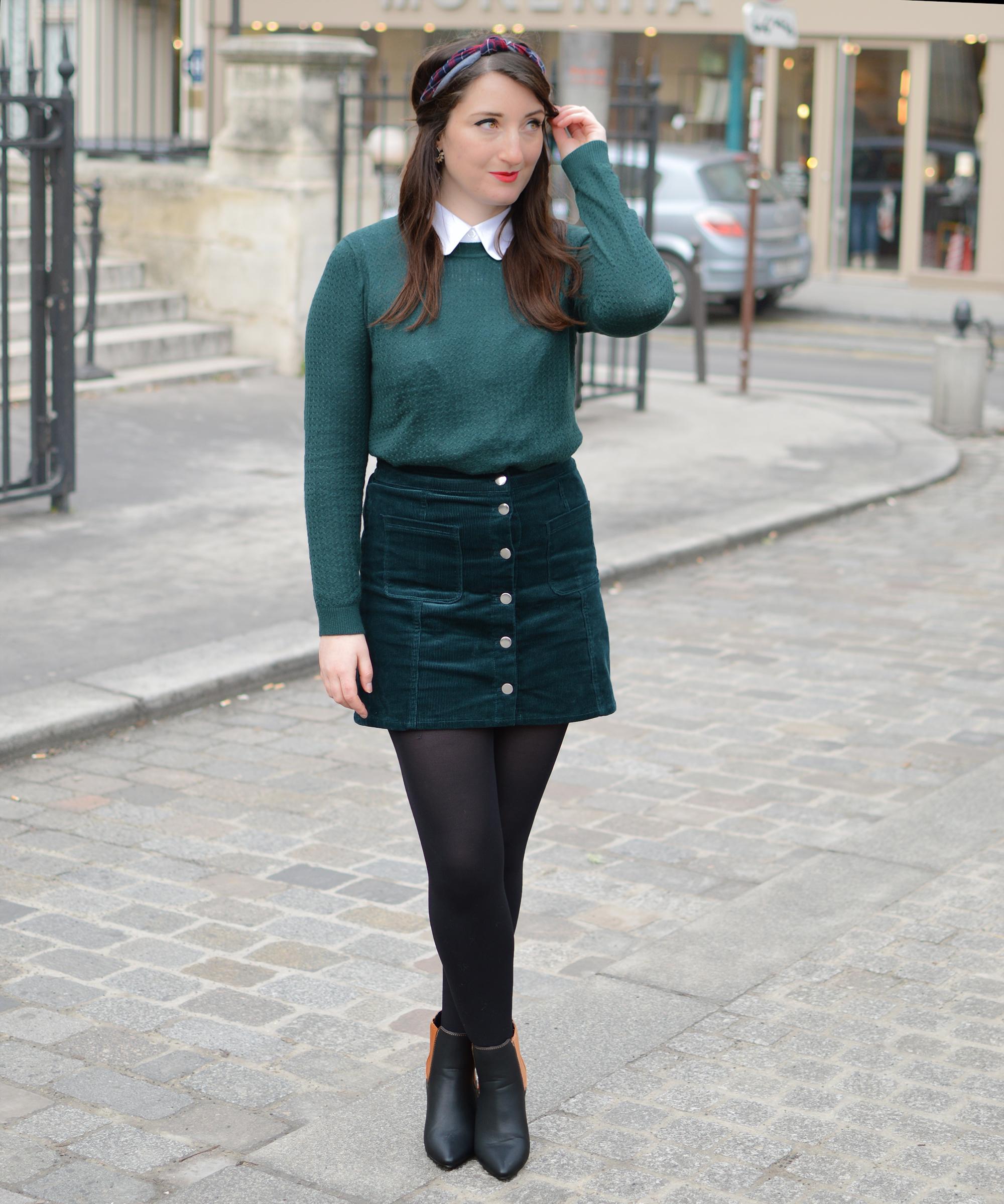 vert-sapin-jupe-col-festonne-look