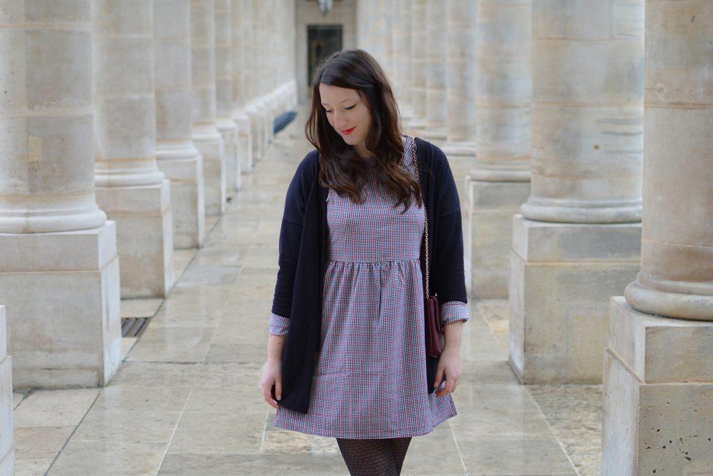 Robe preppy au Palais Royal