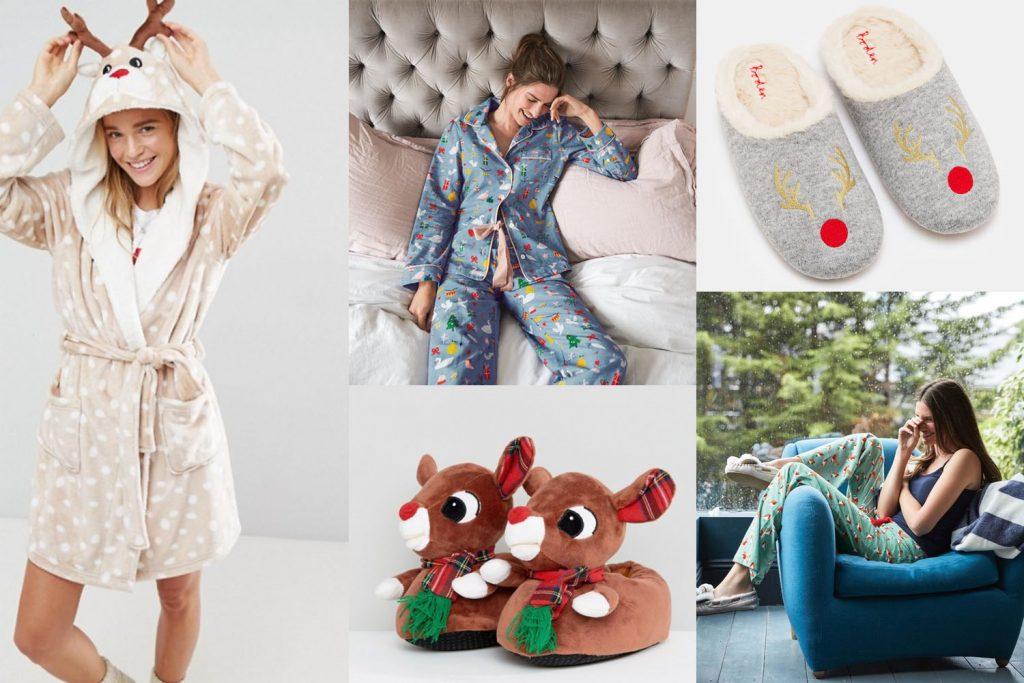 Sélection de pyjamas et chaussons de Noël
