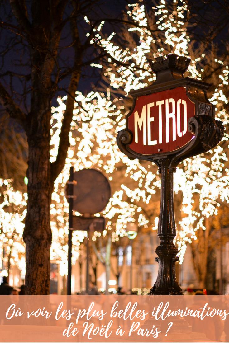 Où voir les plus belles illuminations de Noël à Paris ?