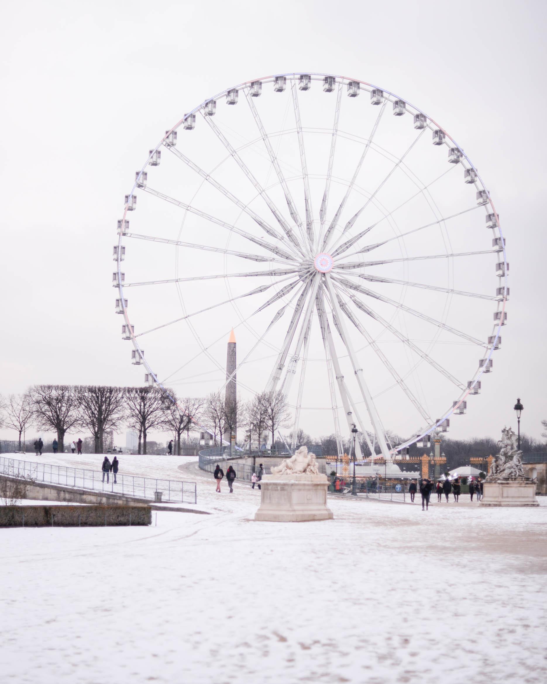 Blog Sophiesmoods Paris Jardin des tuileries sous la neige